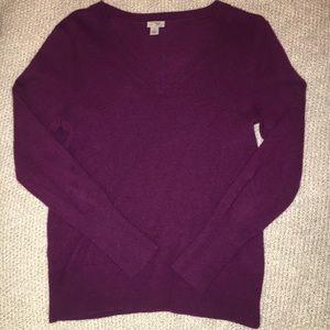 Halogen Plum 100% Cashmere Sweater